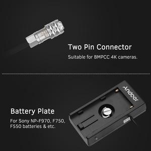 Image 2 - Andoer камера Blackmagic Cinema BMPCC 4K Адаптер блока питания с пружинным кабелем для Sony NP F970 F750 F550 аккумулятор