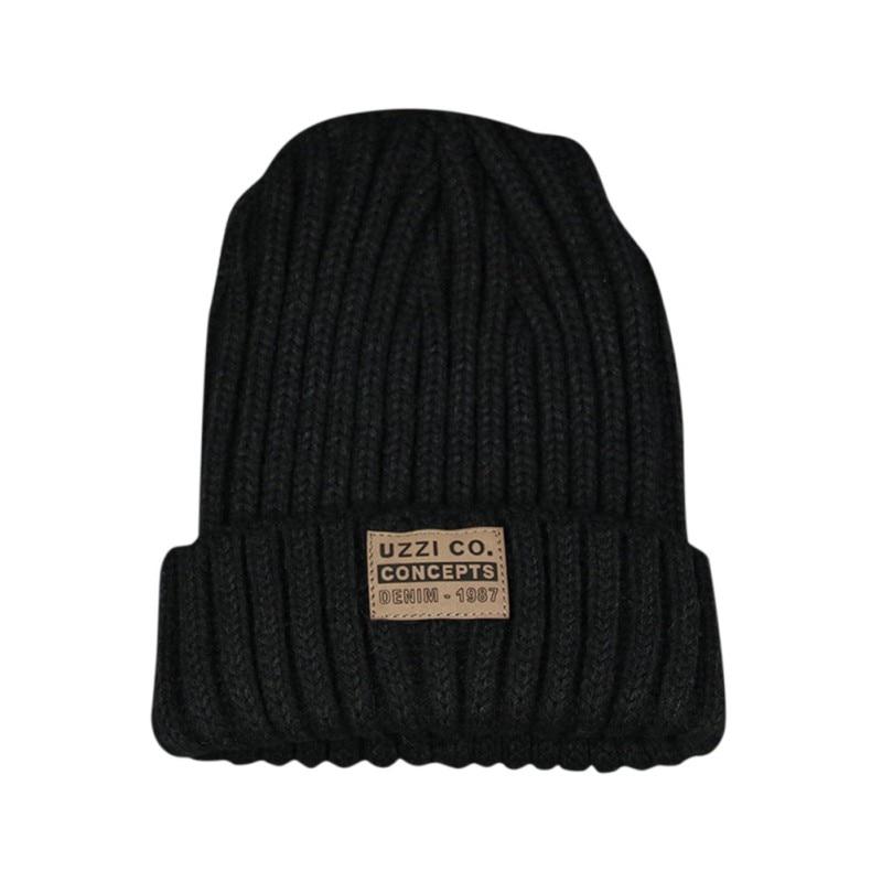 Женские Простые шапки бини для девочек, женские шапки в стиле хип-хоп, хлопковые однотонные теплые мягкие вязаные шапки в стиле хип-хоп, мужские зимние шапки - Color: XG1266B