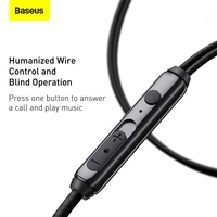 Baseus H19 Wired Earphones 6D Stereo Bass Headphone In-Ear 3.5mm Headset with MIC for Xiaomi Samsung Phones
