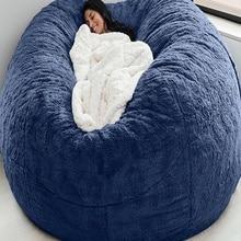 Cover Bean-Bag Lazy-Sofa Living-Room-Furniture Round Fluffy Giant 200cm Big Soft Faux-Fur