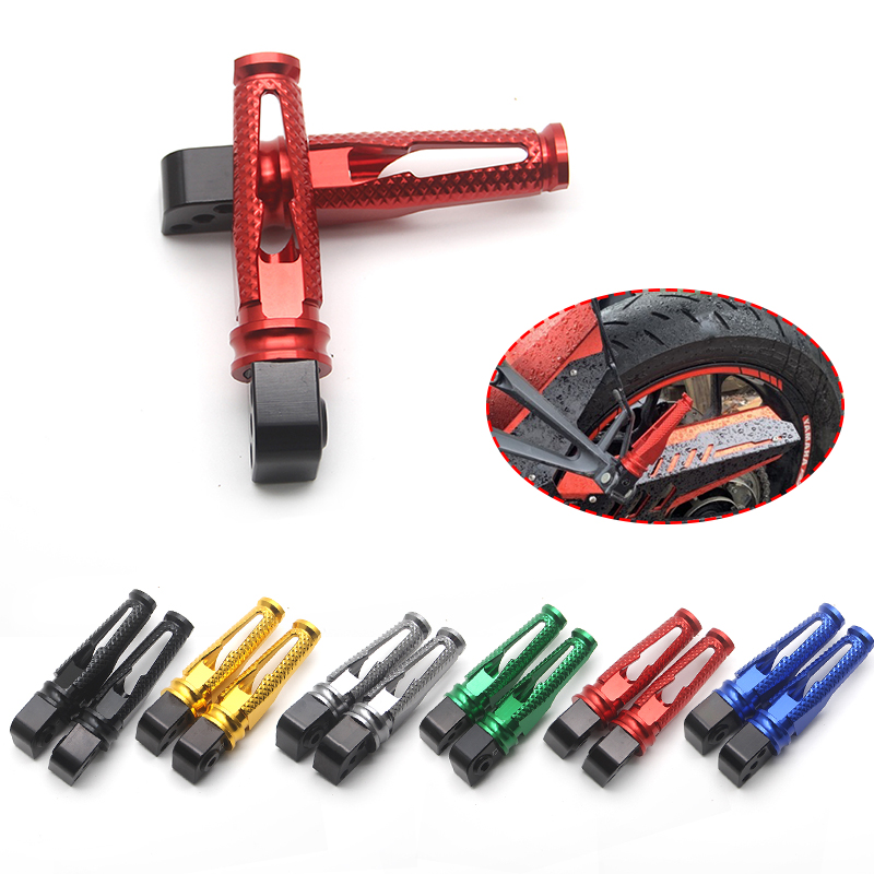 CNC Motorcycle Rear Passenger Foot Pegs Pedals Foot Rests For Ducati Monster 696 796 695 659 Dark 749