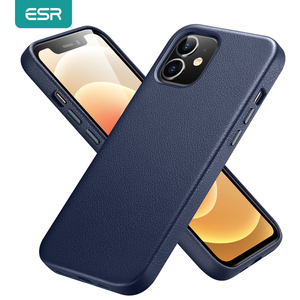 ESR for iPhone 12 Pro Case Leather Cover for iPhone 12 mini 12 Pro Max Soft Original Genuine Leather Case for iPhone 12 Luxury