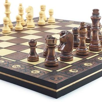 Super échiquier  magnétique en bois échecs 3 en 1 ! 1