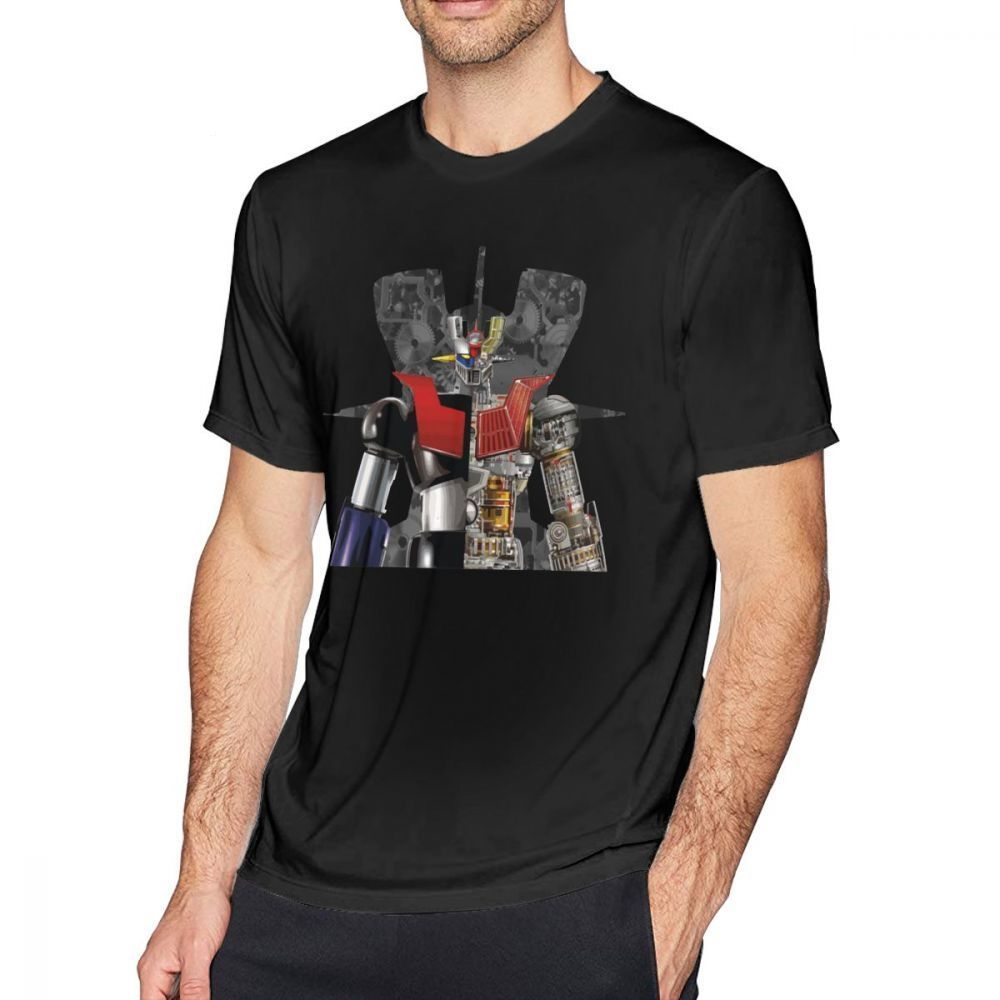 Mazinger Z T Shirt Mazinger Z T-Shirt Fun Tee Shirt Men Print Cotton Short-Sleeve Basic Tshirt Guys Punk Designer Streetwear