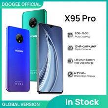 Doogee x95 pro helio a20 4gb ram + 32gb rom 13mp triplo câmera 4350mah 6.52 smartsmartsmartphones telefone móvel android10 os 4g-lte