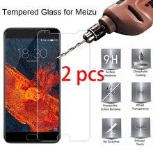 2 шт.! Закаленное стекло защитное стекло для телефона Meizu Pro 7 6 Plus 5 Защита экрана телефона на Meizu 16 Plus 15 Lite