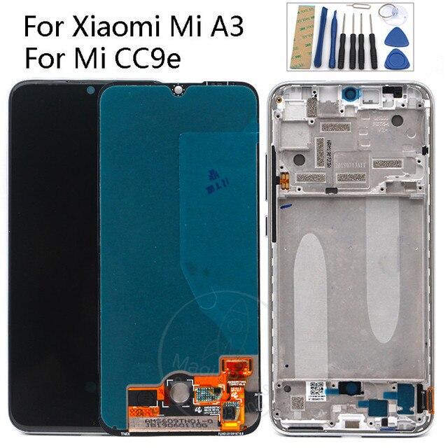 """מקורי סופר AMOLED עבור שיאו mi Mi A3 lcd תצוגת מסך מגע Digitizer עצרת 6.01 """"עבור Xiao mi CC9e LCD"""