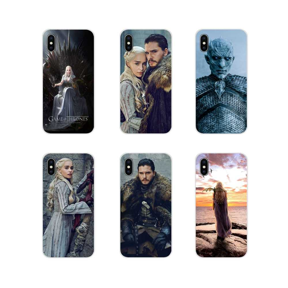 Housse de protection pour Huawei G7 G8 P7 P8 P9 P10 P20 P30 Lite Mini Pro P Smart Plus 2017 2018 2019 Game of Thrones Jon Snow Daenerys