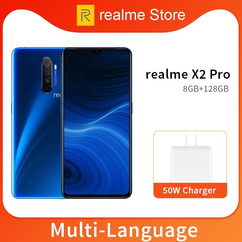 Realme X2 Pro X 2 8GB 128GB 6,5 ''мобильный телефон Snapdragon 855 Plus 64MP Quad камера NFC мобильный телефон OPPO VOOC 50W быстрое зарядное устройство|Смартфоны и мобильные телефоны|   | АлиЭкспресс - Snapdragon 855