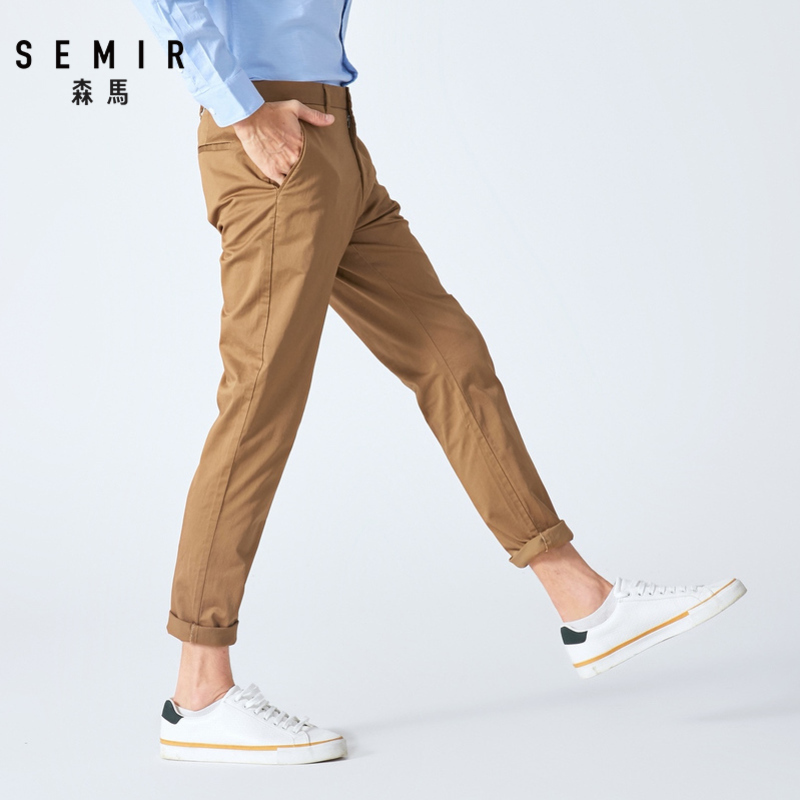 Semir Men Casual Pants 2019 New Trends Autumn Men Elastic Comfort Pants Man Korean Business Pants