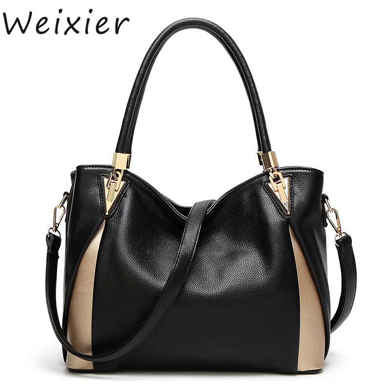 WEIXIER Bags For Women Luxury Bag Women Bags Designer Shoulder Lady Hand Bag Leather Bag Kabelka Bolsas Feminina V1-20
