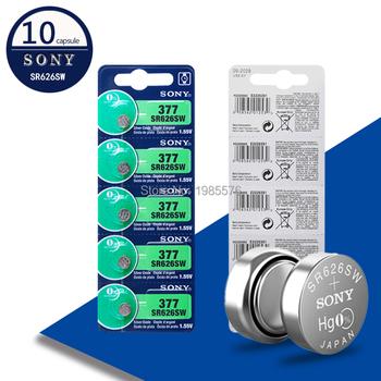 """10 sztuk nowy dla SONY oryginalny 377 376 177 SR626SW 626 SR626 V377 AG4 bateria zegarka tlenku srebra proszę kliknąć na przycisk """" ogniwo monety wykonane w japonii tanie i dobre opinie JP (pochodzenie) 24mAh 1 55V 6 8mm 0 27 Tlenek srebra EE9427 AG4 377 SR626SW Battery toys calculators laser pointers"""