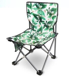 Image 1 - Cadeira de acampamento ao ar livre portátil piquenique dobrável dobrável cadeira ultraleve pesca nova folha de carne verde flor cadeira