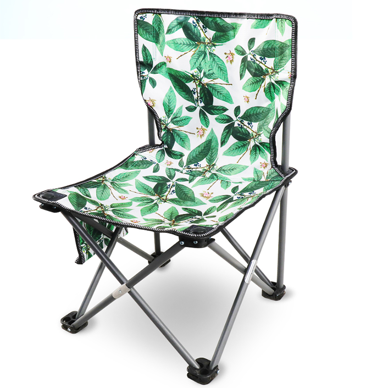 Outdoor Chair Portable Camping Picnic Folding Foldable Chair Ultralight Fishing New Green Flesh Leaf Flower  Chair