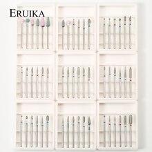 9 типов алмазных сверл для ногтей, фреза для маникюра, электрическая машина, набор вращающихся заусенцев для удаления кутикулы, очищающий гель, аксессуары для удаления