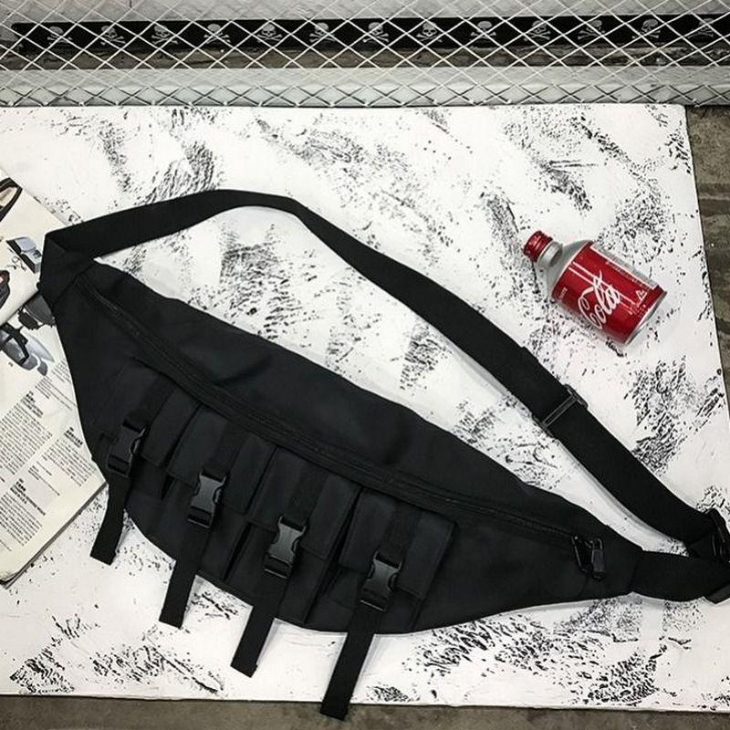 Chest Bag Men Waist Bag Cool Multifunction Fanny Waist Pack Banana BumBag Large Capacity Trendy Street Hip Hop Personality Bag