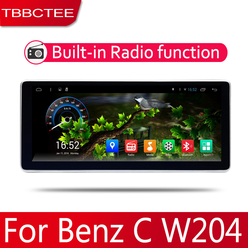 2din Car multimedia <font><b>Android</b></font> <font><b>Autoradio</b></font> Car Radio GPS player For <font><b>Mercedes</b></font> Benz C Class <font><b>W204</b></font> 2007~2014 Bluetooth WiFi Mirror link image