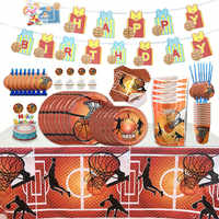 Basketball Theme Party Decorations For Baby Shower Kids Boys Birthday Favors Events Party Tableware Set Decoration Supplies