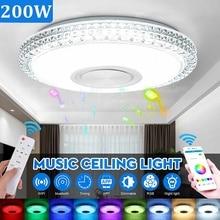 Lámpara de techo inteligente con Control remoto, luz LED RGB moderna de 200W con WiFi, aplicación de iluminación para el hogar, música, bluetooth, para dormitorio