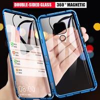 360 custodia in metallo ad adsorbimento magnetico per Xiaomi Redmi Note 9S 8 7 9 8T 9A 9C K20 K40 Mi 11 10 10T 9T POCO X3 NFC M3 F3 Pro Cover