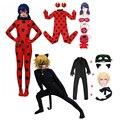 Рождественские Модные женские костюмы для девочек, пасхальный комбинезон для косплея с насекомыми черными котами, детские костюмы из спанд...
