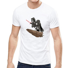Trend Take The Sword Black Warrior Printing Man High Quality Dragon Ball tshirt off white streetwear t-shirt