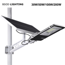 BSOD LED Solar Lights IP65 Waterproof 20W 30W 50W 100W 150W 200W Led Street Light Led Solar Lamp Outside Solar Projector