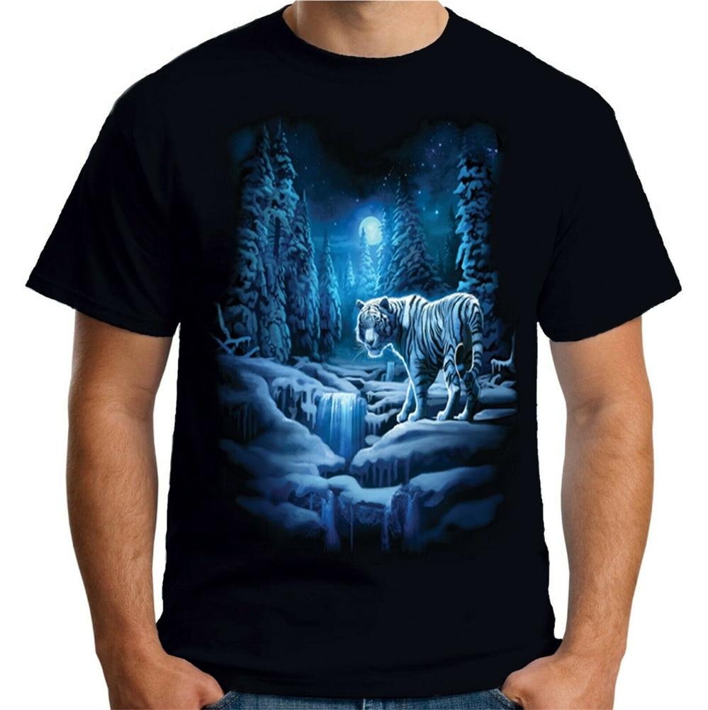 Velocitee Femmes T-shirt à manches longues fantaisie blanche neige tigre A19427