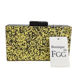 Image 5 - Boutique De FGG Blue Glitter Women Fashion Acrylic Evening Handbags Box Clutch Hard Case Ladies Casual Chain Crossbody Bag