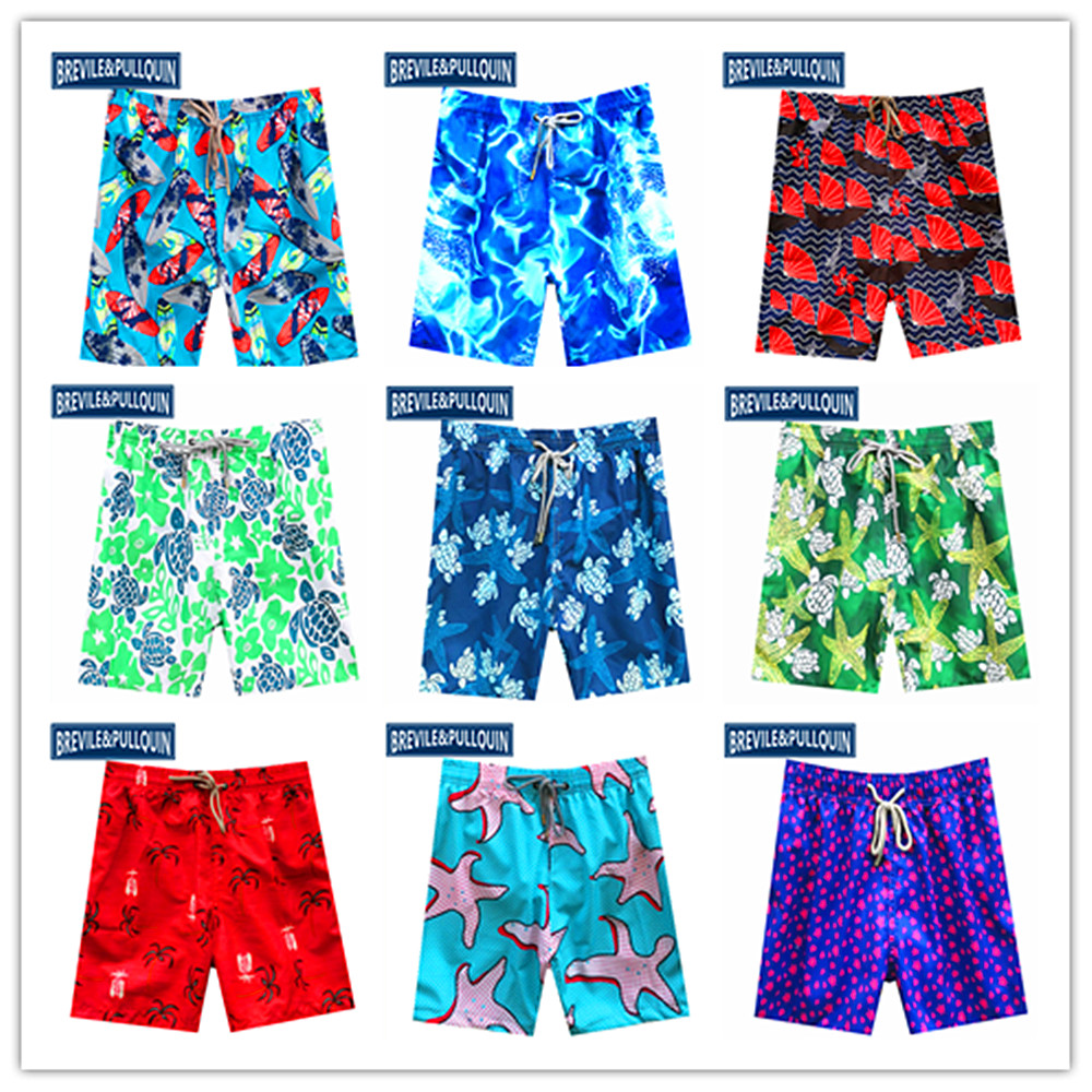 2020 Brand Brevile Pullquin Beach Boardshorts Men Turtles Swimwear Skateboard Couples Sportswear Skateboard Mens Hawaiian Shorts