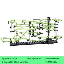 Space Rail 3 Levels Glow in dark 233-3G Roller Coaster Space Ball Model Building Kits DIY Educational Toys for Children Gifts цена в Москве и Питере
