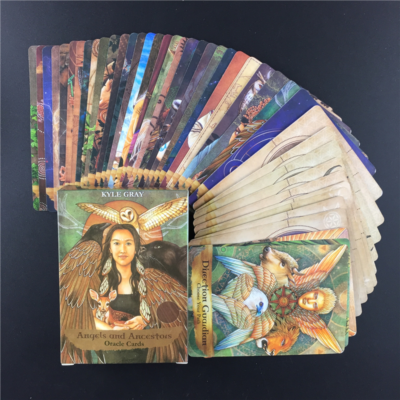 High Quality Angels And Ancestors  Oracle  Cards  Deck And Divination Sealed New Cards Game Board Party Guidance Tarot Cards