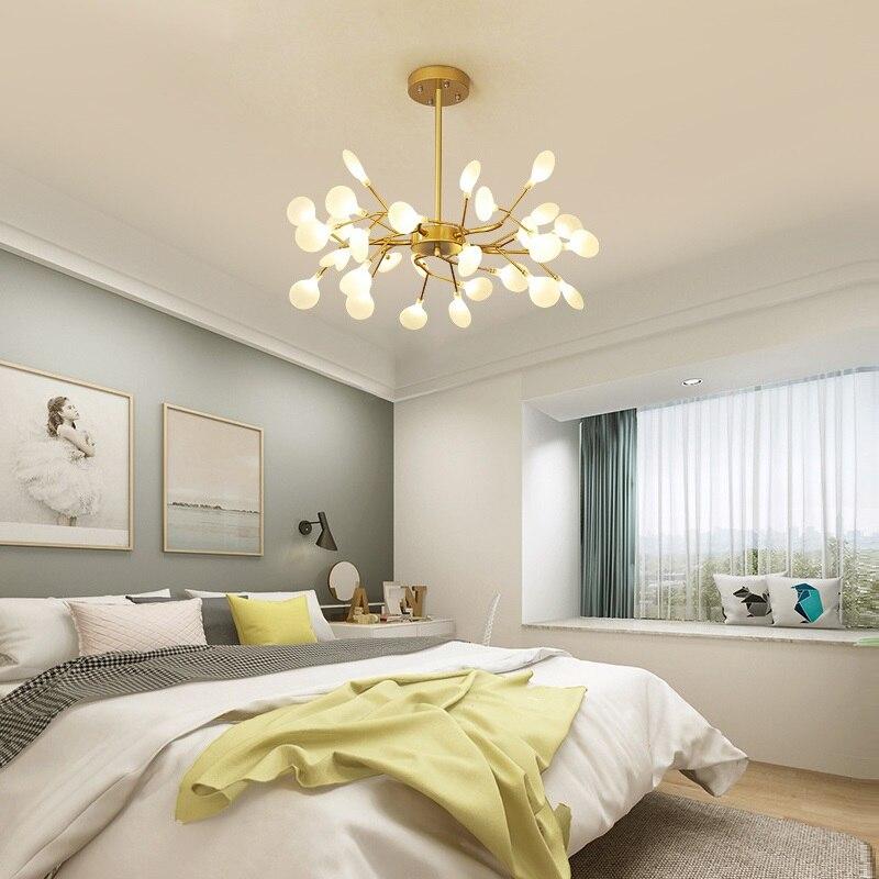 Candelabro de iluminación LED con estilo rama de árbol candelabro de techo decorativo candelabro de iluminación colgante lámpara de araña moderna - 4