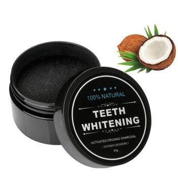 Yellow Teeth Whitening Powder Natural Activated Charcoal Powder with Activated Coconut Shell Charcoal Teeth Whitening Toothpaste