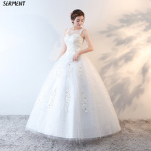 Wedding 2019 latest spot XL dream dress wedding white photo discount network elegant Lace