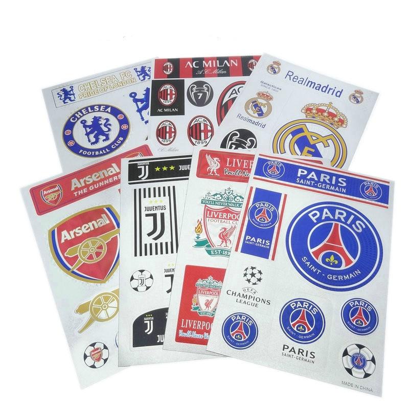 La Liga Premier League Ligue Serie A Football Team Logo Fans Kawaii 20cm*30cm Team Sticker Car Sticker Fan Supplies