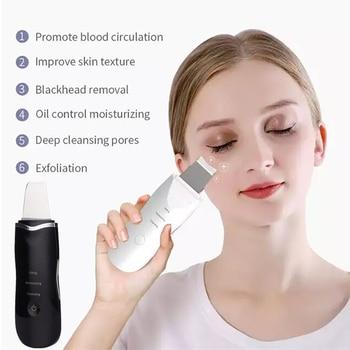 Limpiador de poros ultrasónico exfoliante DE LA PIEL removedor de espinillas masajeador...