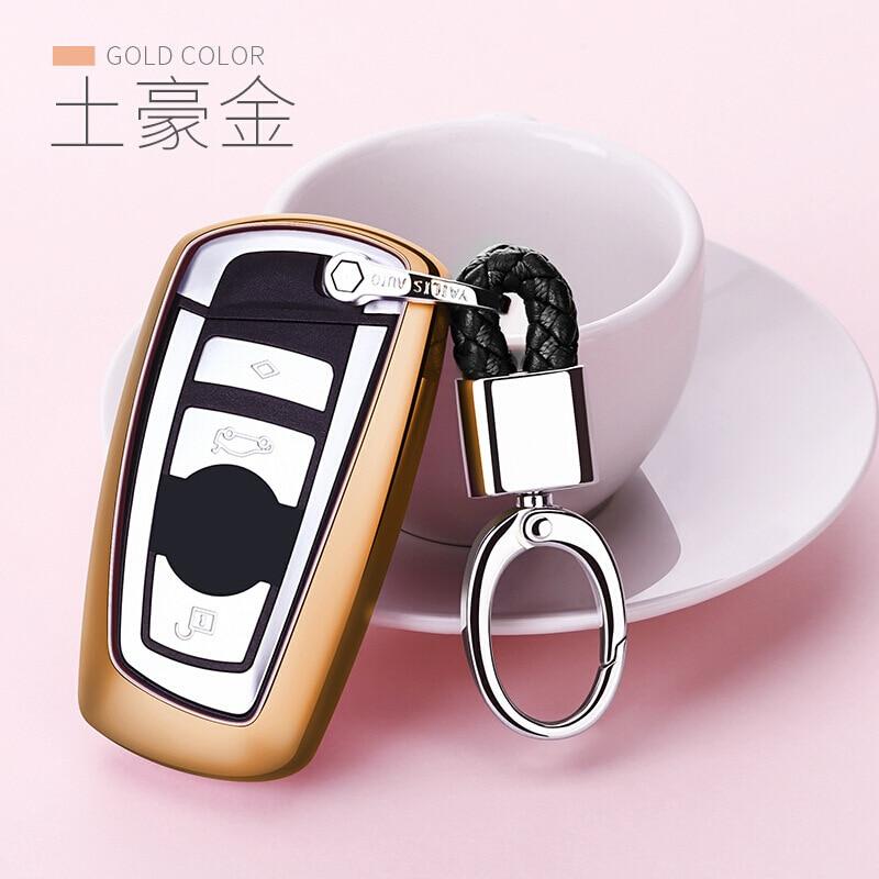 Otomobiller ve Motosikletler'ten Araba için Anahtar Kılıfı'de Sadece BMW anahtar çantası durumda 3 serisi 5 6 serisi X3X4 araba anahtarı kol BMW anahtar koruyucu kılıf toka erkekler ve kadın title=