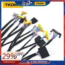 TKDMR herramienta probador de pantalla para TV/LCD/LED, 14 unids/lote, líneas de pantalla, Panel Lcd, Lampara, Cables de prueba, compatible con interfaz LVDS de 7 55 pulgadas