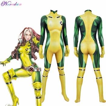 3D Printing Movie X MEN Rogue Cosplay Costume Adult Kids Zentai Bodysuit Suit Jumpsuit Halloween Party Women Girls