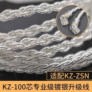 Image 5 - CCA KZ ZSN Oortelefoon Silvers Kabel Zsn Pro Plated Upgrade Kabel 2pin vergulde Pin 0.75mm voor KZ ZSN Pro zs10 pro KB06 KB10