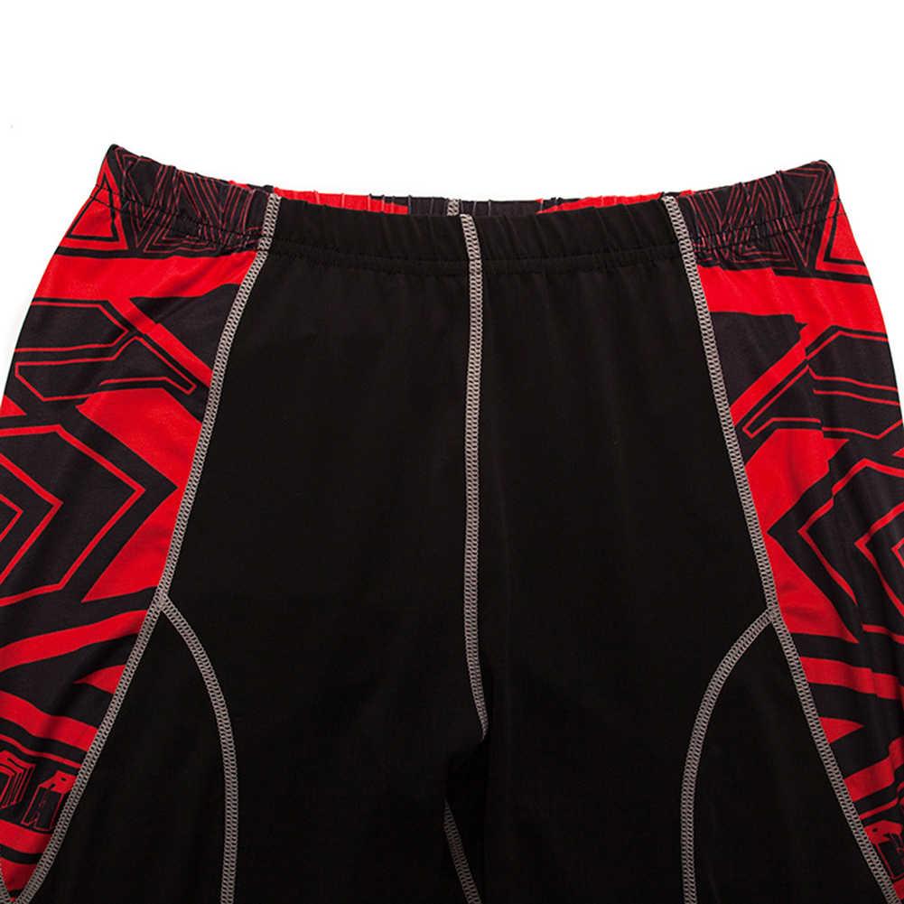 2 teile/satz Männer Sport Anzug Fitness Kleidung Gedruckt Trainingsanzug Compression Langarm-shirt Hosen Workout Rashguard Strumpfhosen