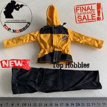 1:6 escala figura de ação uniforme soldados roupas acessórios soldados montanhismo casaco com capuz calças terno casual clothingmodel