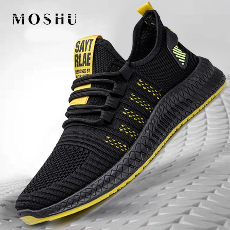 2020 Casual Shoes Men Fashion Mesh Sneakers Lightweight Vulcanize Shoes Lace-up Male Shoes Walking Sneakers Zapatillas Hombre
