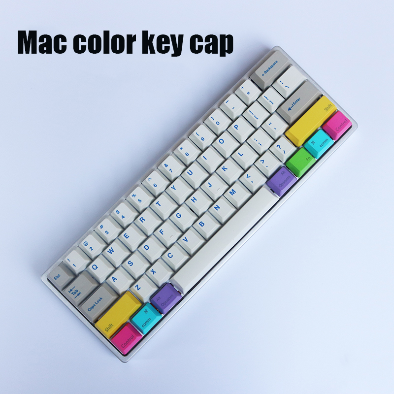 Mac Keyboard Add On Kit Mechanical Keyboard Dyesub Keycap Top Print Add-on Kit PBT Keycap Command Option Cap OEM Height