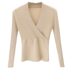 15 colors 2019 Sexy Deep V Neck Sweater Women's Pullover Slim Sweaters Female Elastic Long Sleeve Tops Femme (N0021) 3