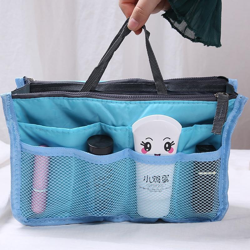 Women Foldable Portable Large Capacity Bag Organizer Handbag Foldable Double Zipper Travel Storage Holder Travel Bag Toiletry