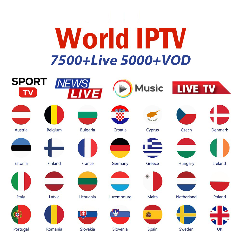 Free Test IPTV Spain Subscription 1 Year IPTV Portugal Brazil Dutch IPTV Subscription M3U With Adult France For Smart TV Enigma2