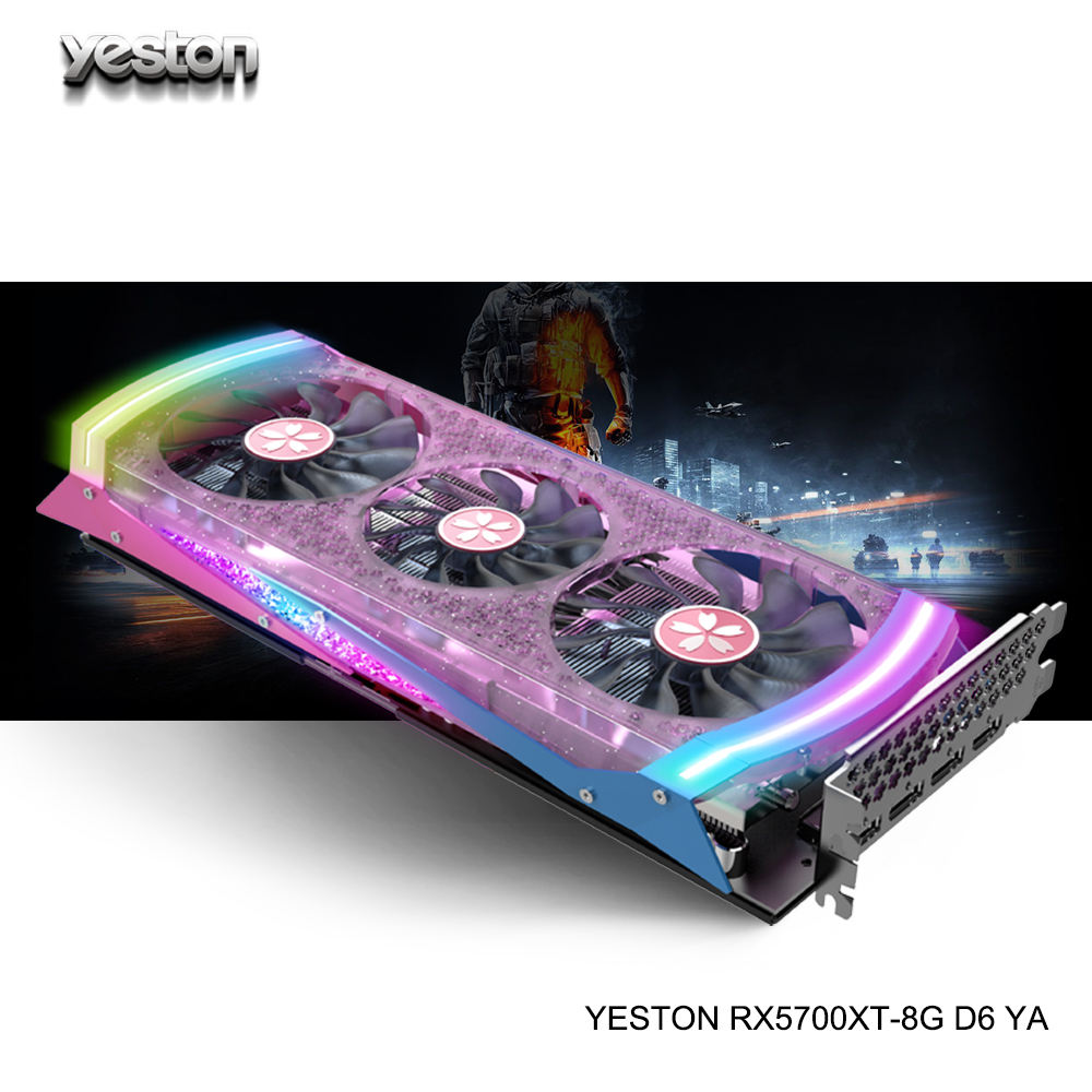 Yeston Radeon RX 5700 XT GPU 8GB GDDR6 256bit 7nm Gaming Desktop computer PC Video Graphics Karten unterstützung DP /HDMI PCI-E <font><b>X</b></font> 16 3,0 image