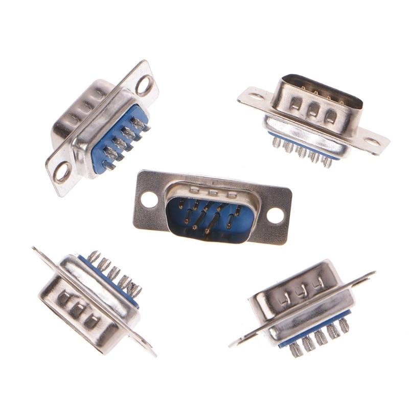 5 шт/лот db 9 rs232 разъем с разъемом d sub pin pcb